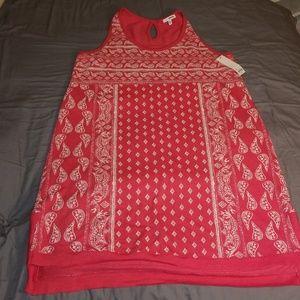 Sonoma Tank Dress size XL Bandana Print